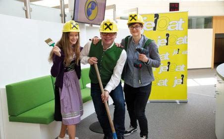 Das Kompetenzzentrum der Raiffeisenbank in Gloggnitz erstrahlt in neuem Kleid!
