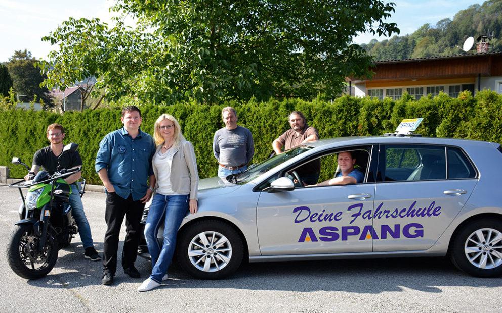 Das neue Team der Fahrschule Aspang