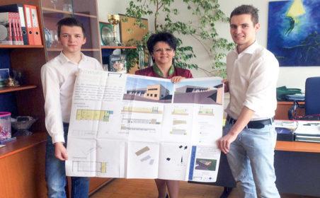 Bautechnik-Maturanten planen neuen Bauhof in Dechantskirchen