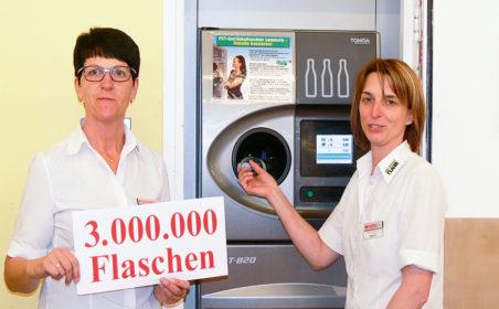 3.000.000 Pet-Flaschen gesammelt