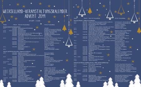 Kalender Veranstaltungen zur Weihnachtszeit