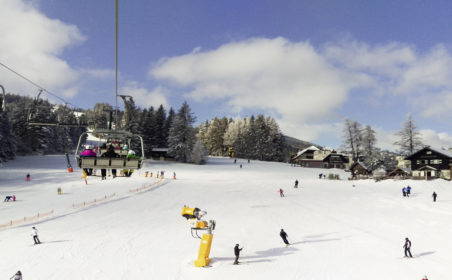 Sicher Skifahren  bei perfekten Bedingungen
