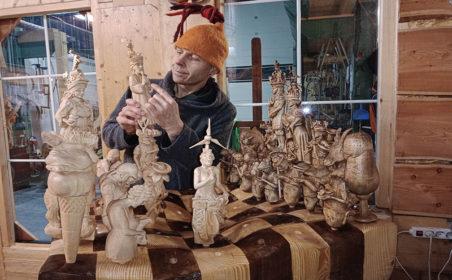 Die Heimat auf dem Schachbrett